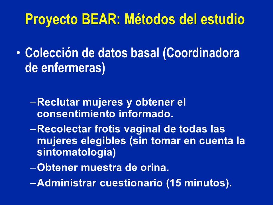Proyecto BEAR: Métodos del estudio