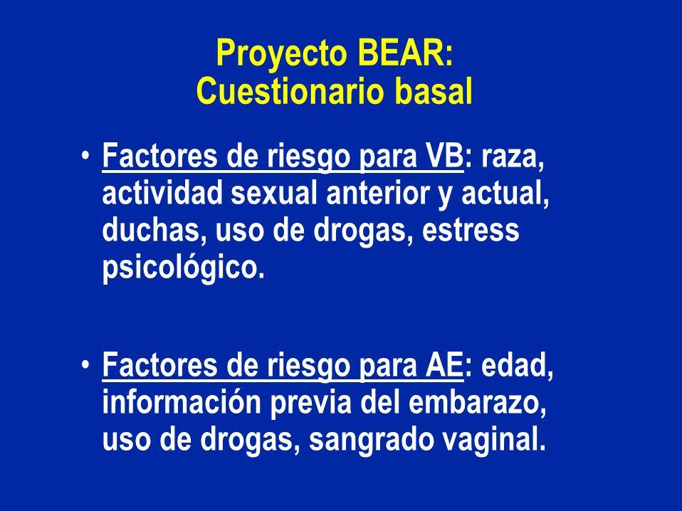 Proyecto BEAR: Cuestionario basal