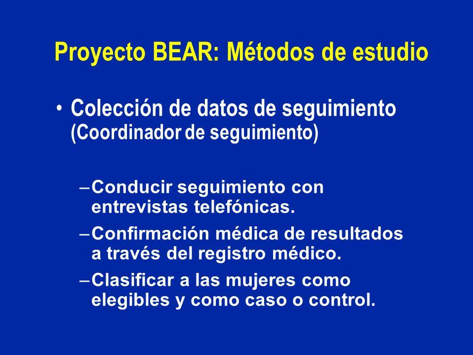 Proyecto BEAR: Métodos de estudio