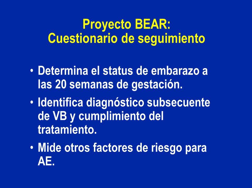 Proyecto BEAR: Cuestionario de seguimiento
