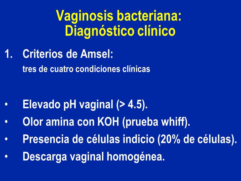 Vaginosis bacteriana: Diagnóstico clínico