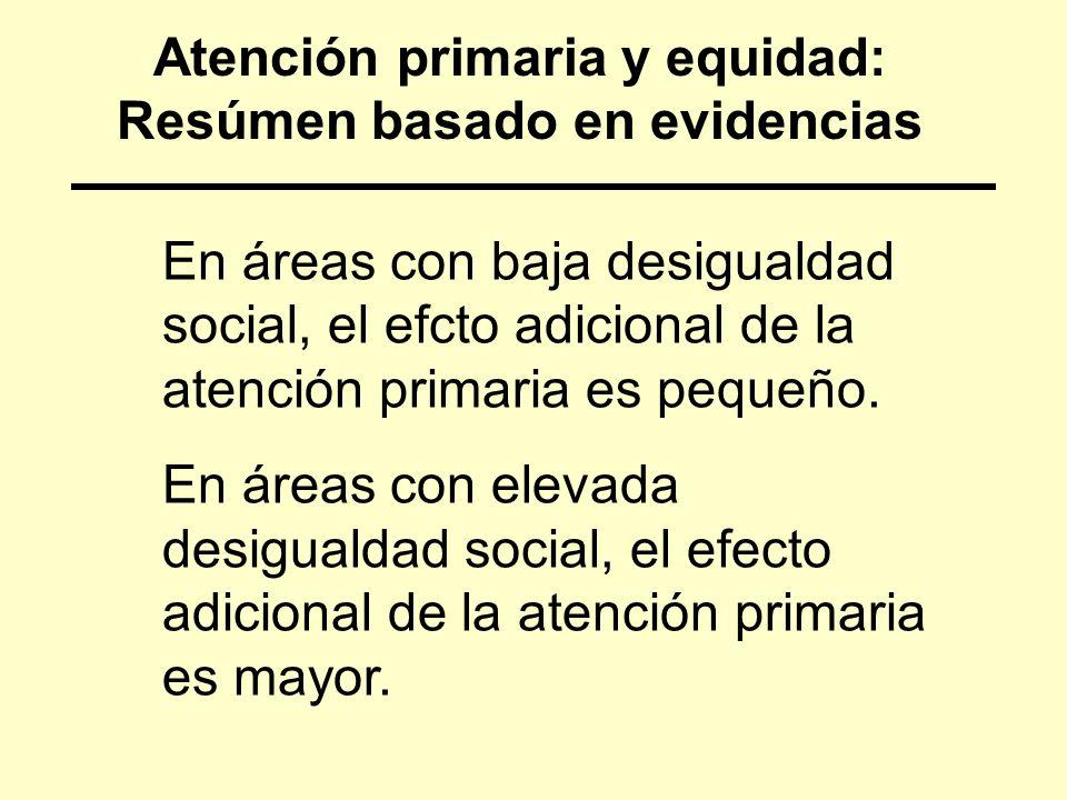 Atención primaria y equidad: Resúmen basado en evidencias