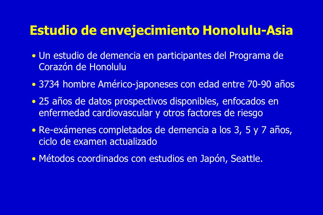 Estudio de envejecimiento Honolulu-Asia
