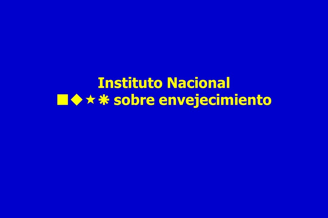 Instituto Nacional  sobre envejecimiento