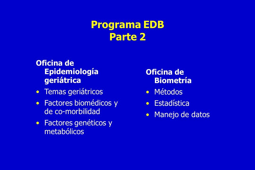Programa EDB Parte 2 Oficina de Epidemiología geriátrica