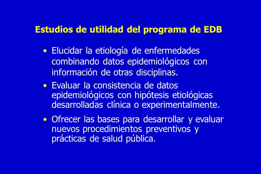 Estudios de utilidad del programa de EDB