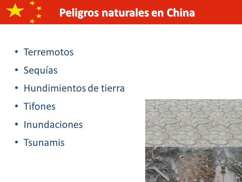 Peligros naturales en China