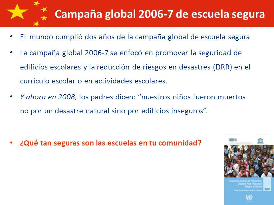 Campaña global 2006-7 de escuela segura