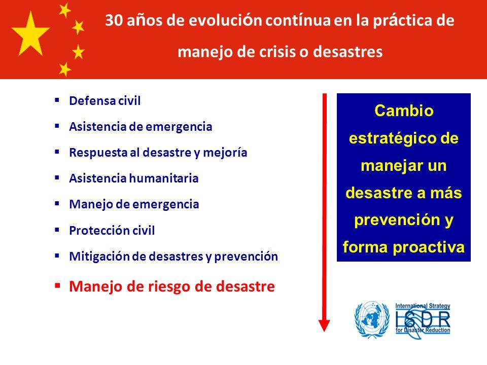 30 años de evolución contínua en la práctica de manejo de crisis o desastres