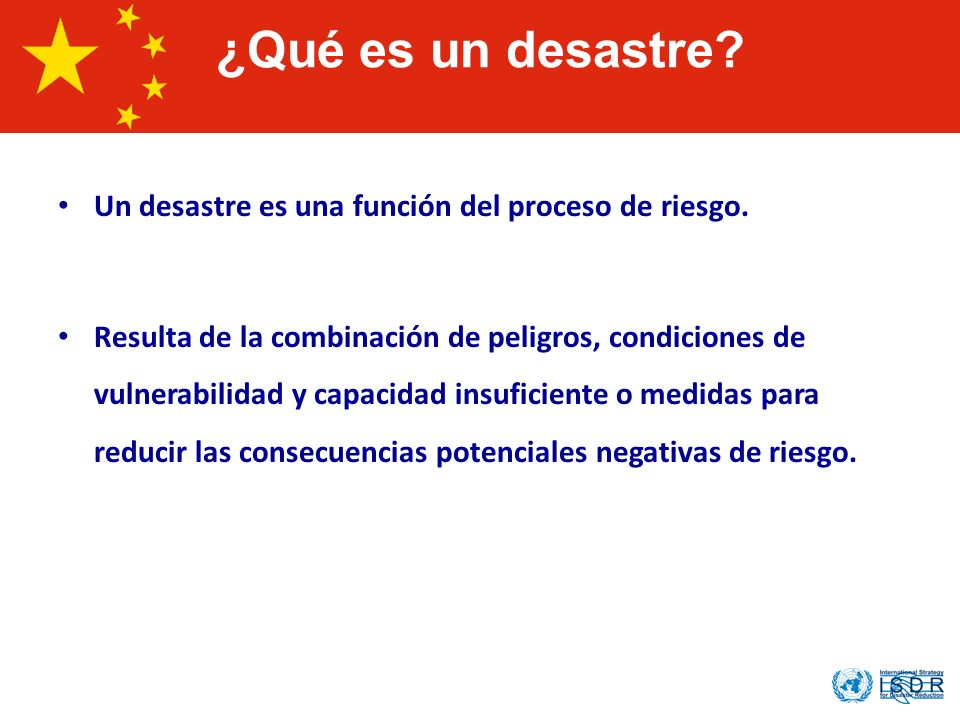 What is a Disaster ¿Qué es un desastre