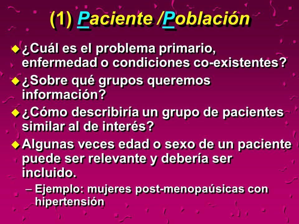 (1) Paciente /Población
