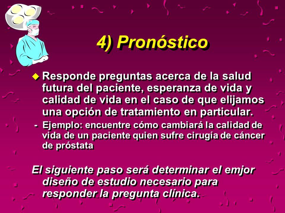4) Pronóstico