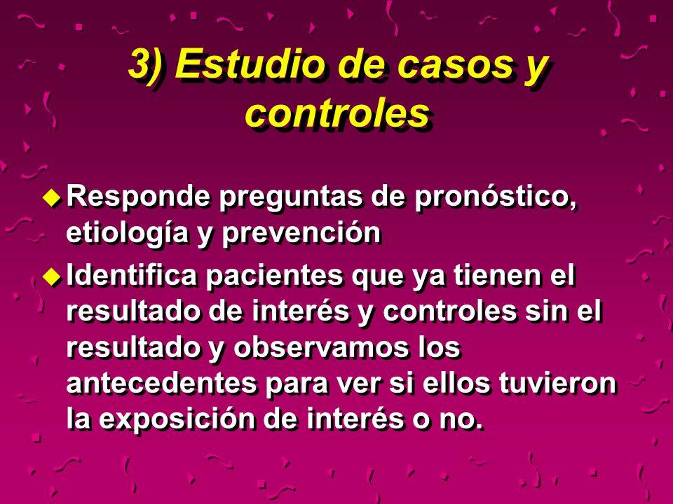 3) Estudio de casos y controles
