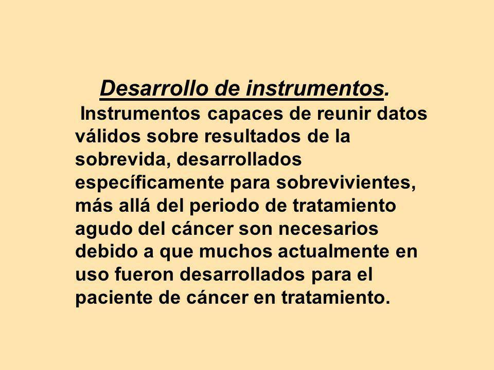 Desarrollo de instrumentos