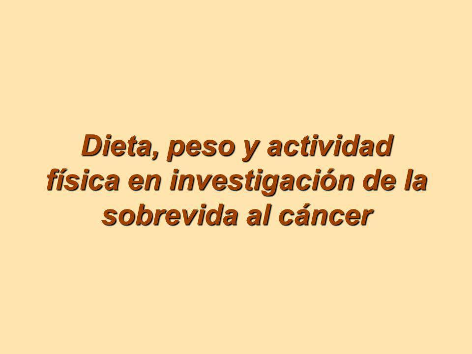 Dieta, peso y actividad física en investigación de la sobrevida al cáncer