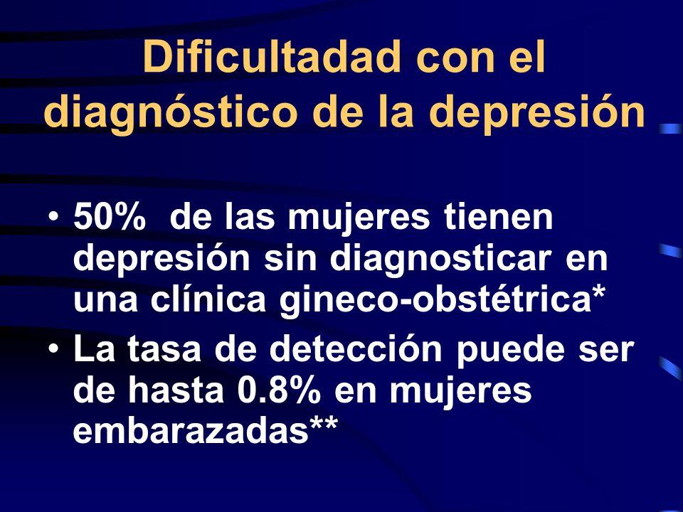 Dificultadad con el diagnóstico de la depresión