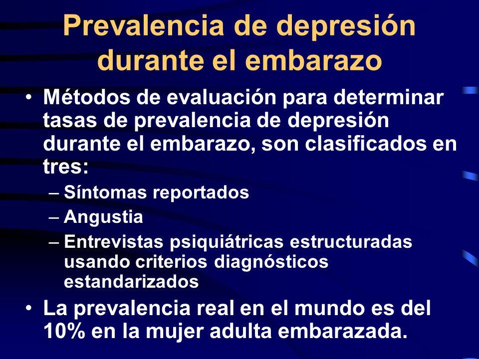 Prevalencia de depresión durante el embarazo