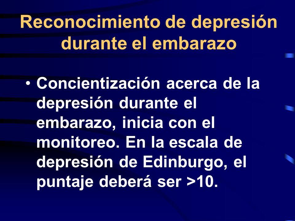 Reconocimiento de depresión durante el embarazo