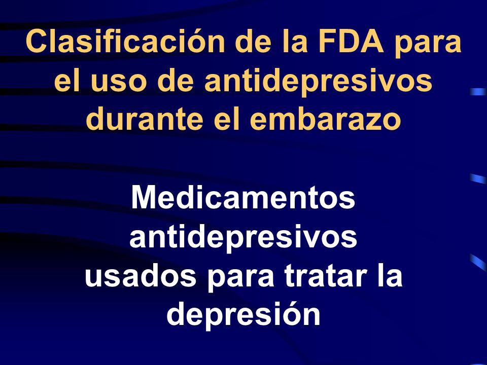 Medicamentos antidepresivos usados para tratar la depresión