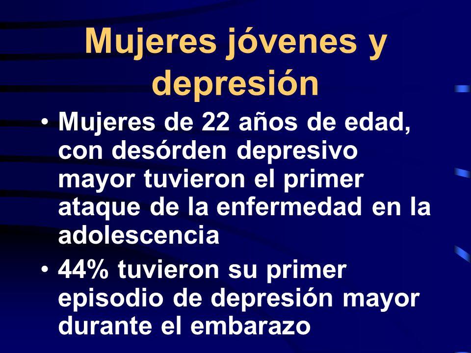 Mujeres jóvenes y depresión