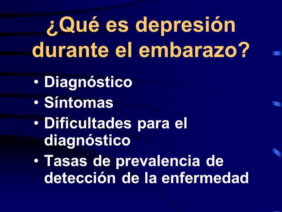 ¿Qué es depresión durante el embarazo