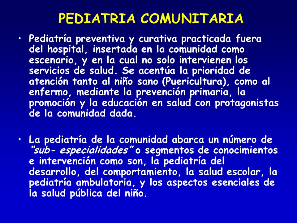 PEDIATRIA COMUNITARIA