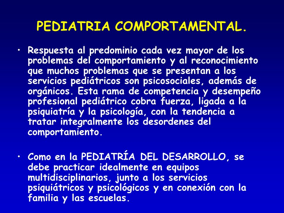 PEDIATRIA COMPORTAMENTAL.
