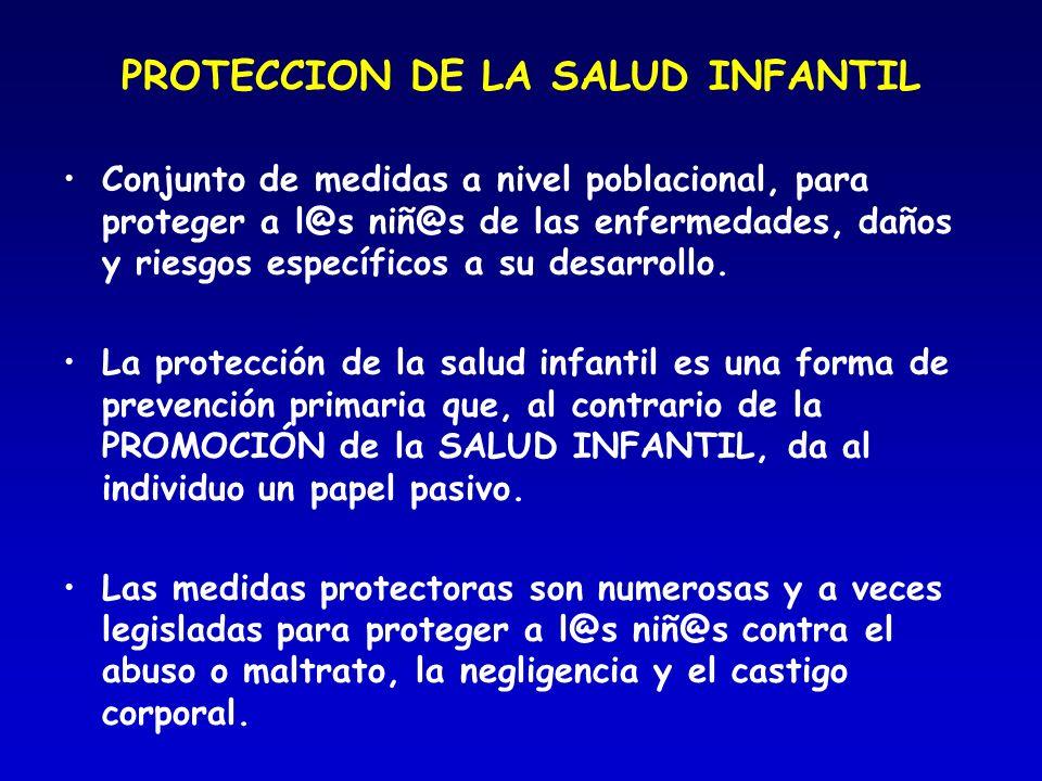 PROTECCION DE LA SALUD INFANTIL
