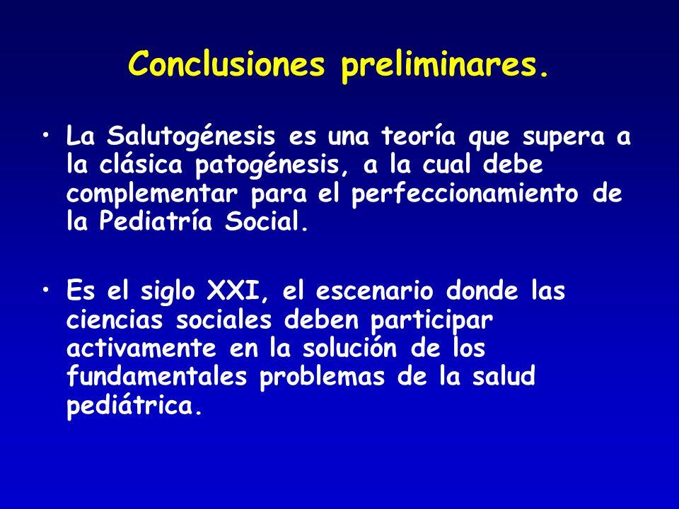 Conclusiones preliminares.