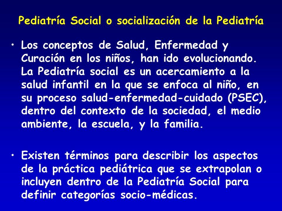 Pediatría Social o socialización de la Pediatría
