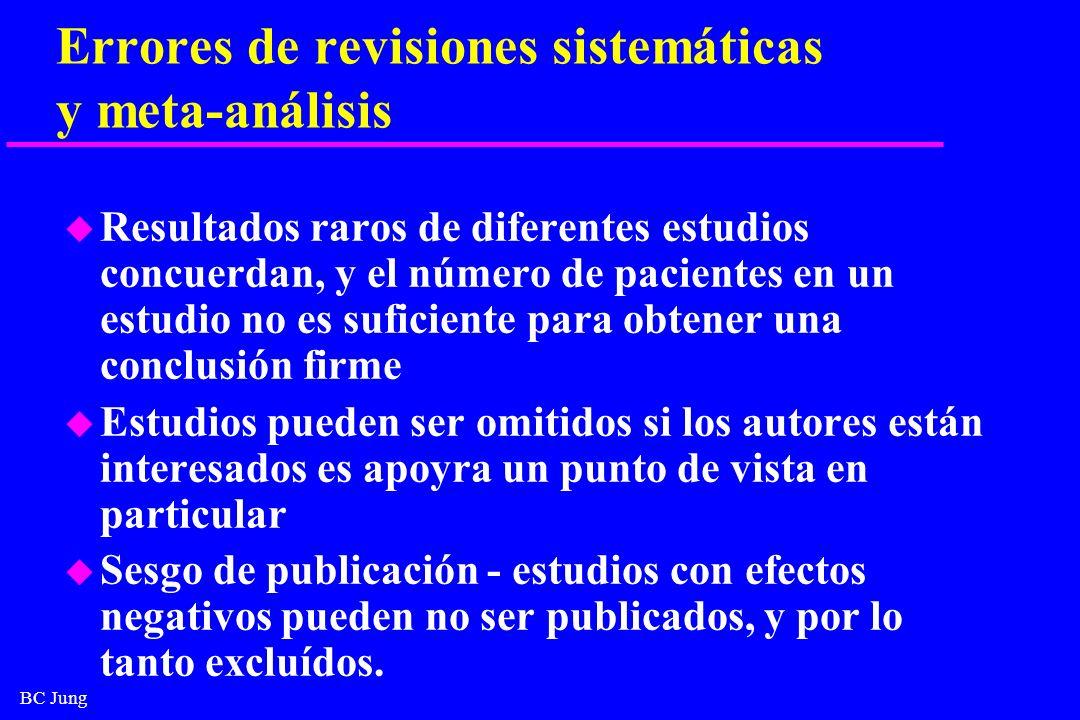 Errores de revisiones sistemáticas y meta-análisis