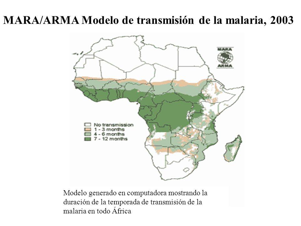 MARA/ARMA Modelo de transmisión de la malaria, 2003