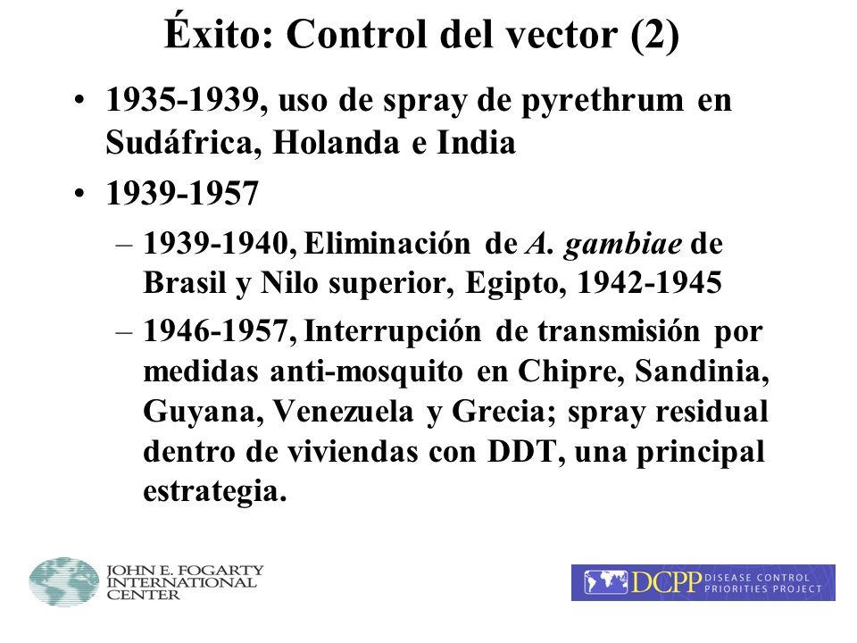 Éxito: Control del vector (2)