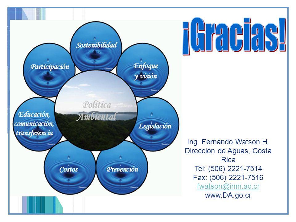 Dirección de Aguas, Costa Rica