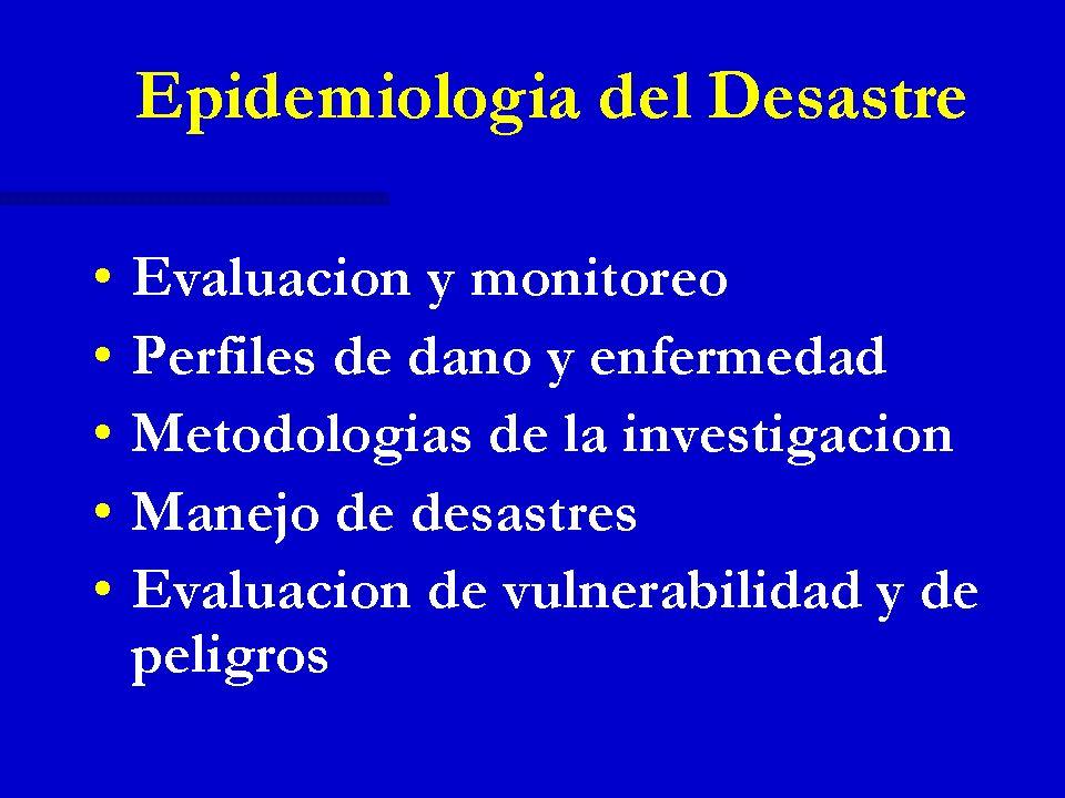 Epidemiología del Desastre