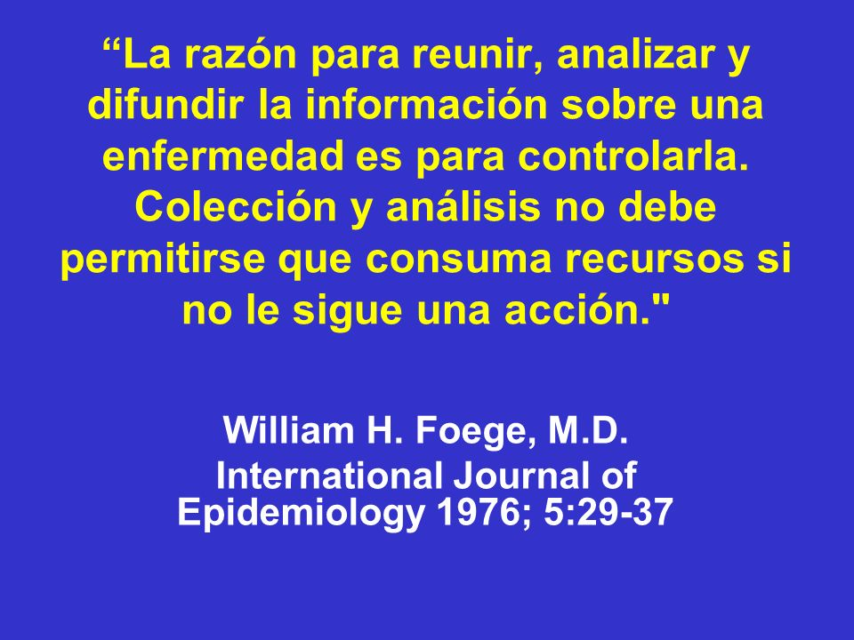 International Journal of Epidemiology 1976; 5:29-37