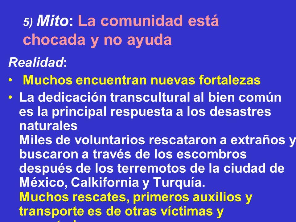5) Mito: La comunidad está chocada y no ayuda