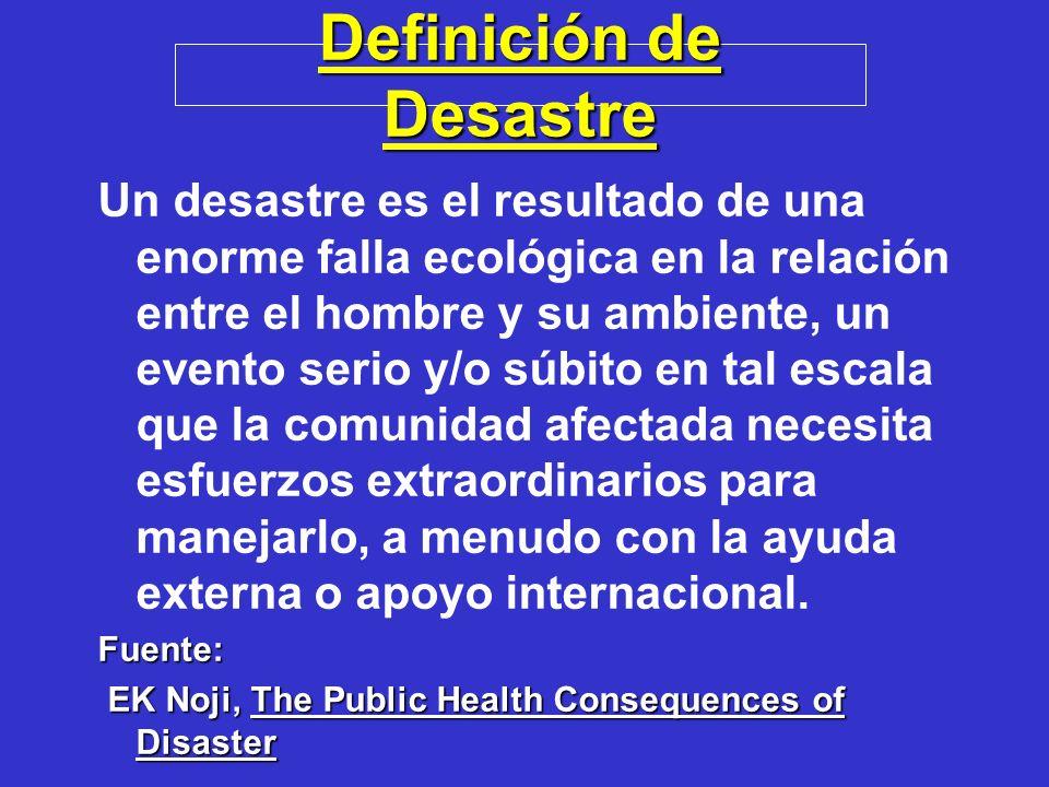 Definición de Desastre