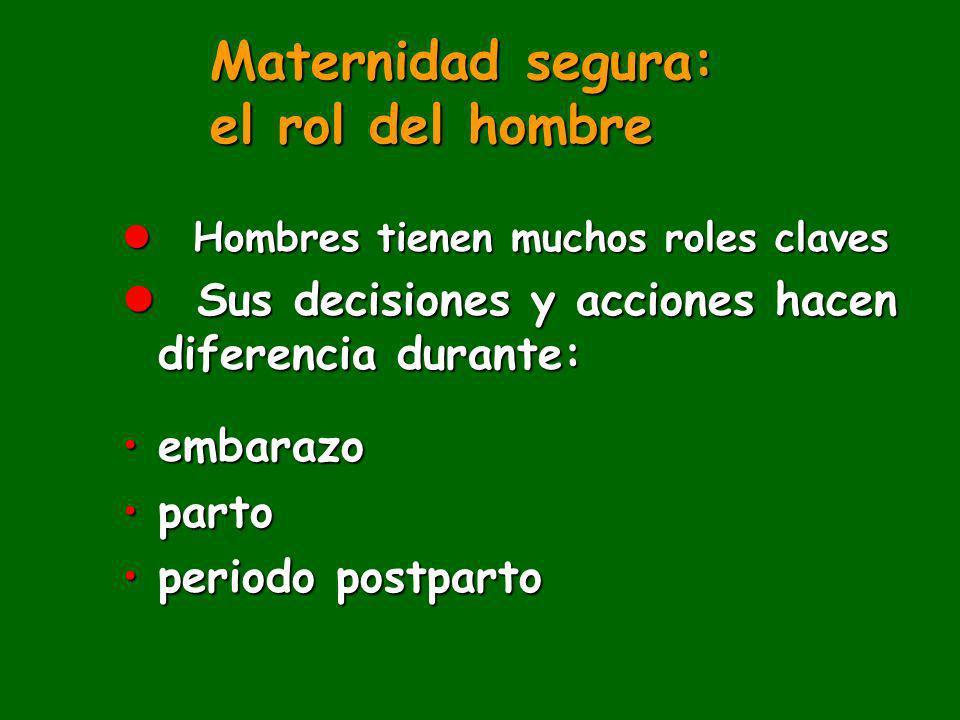 Maternidad segura: el rol del hombre