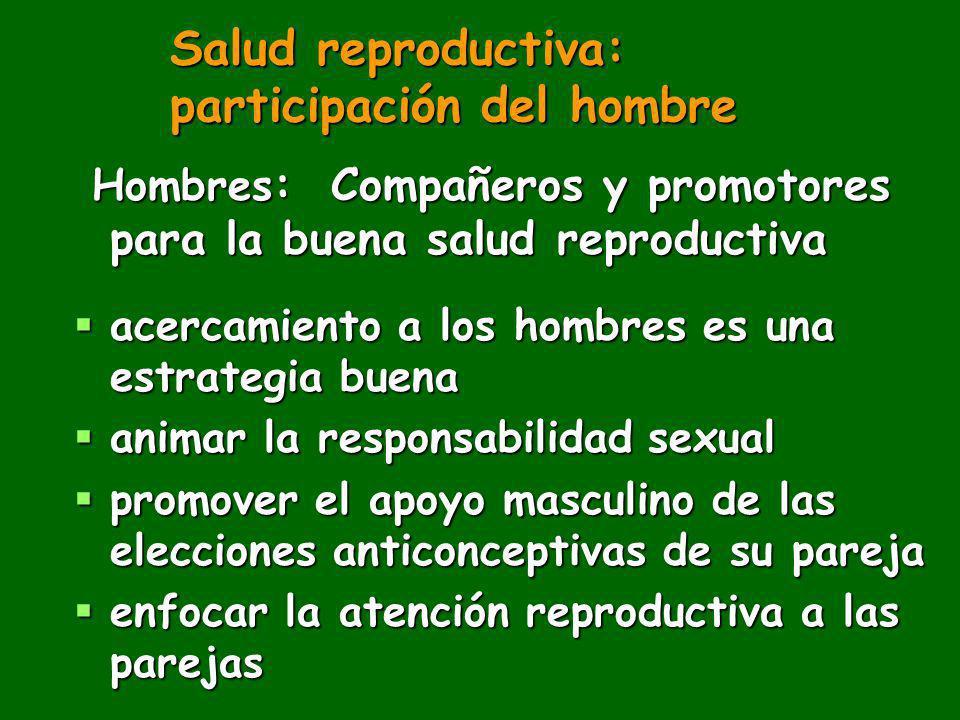 Salud reproductiva: participación del hombre