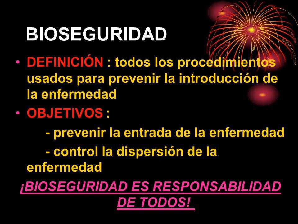 ¡BIOSEGURIDAD ES RESPONSABILIDAD DE TODOS!