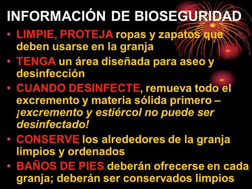 INFORMACIÓN DE BIOSEGURIDAD