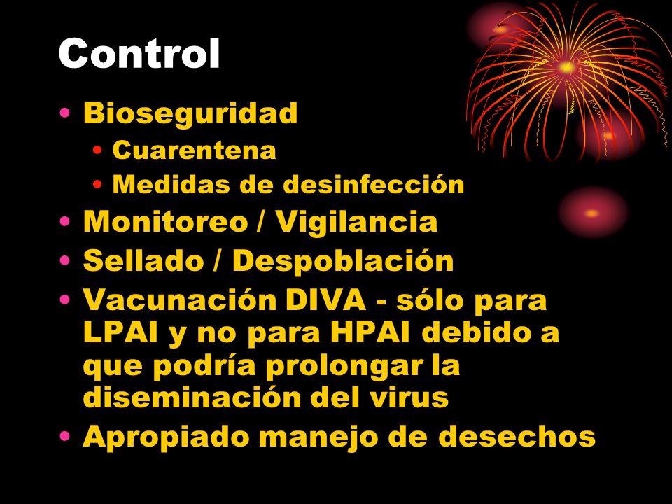 Control Bioseguridad Monitoreo / Vigilancia Sellado / Despoblación