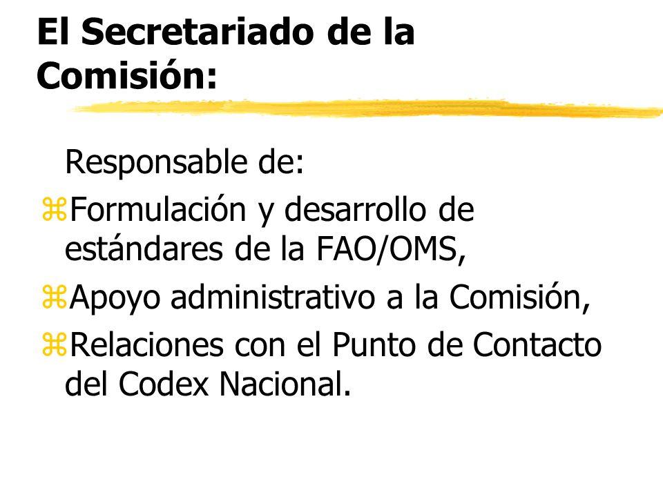 El Secretariado de la Comisión: