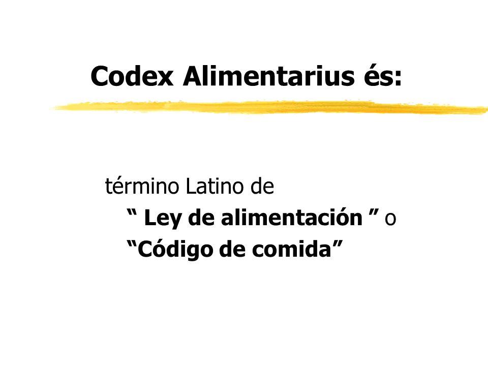 Codex Alimentarius és: