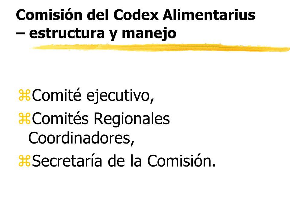 Comisión del Codex Alimentarius – estructura y manejo
