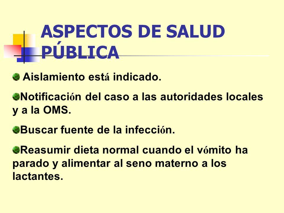 ASPECTOS DE SALUD PÚBLICA