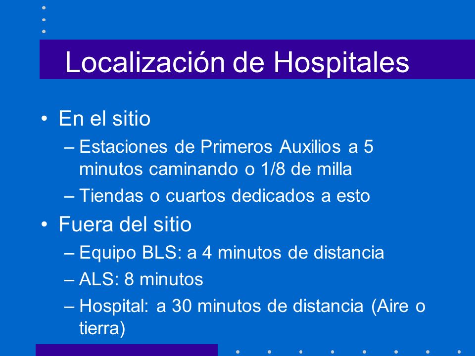 Localización de Hospitales