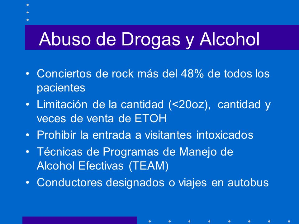 Abuso de Drogas y Alcohol