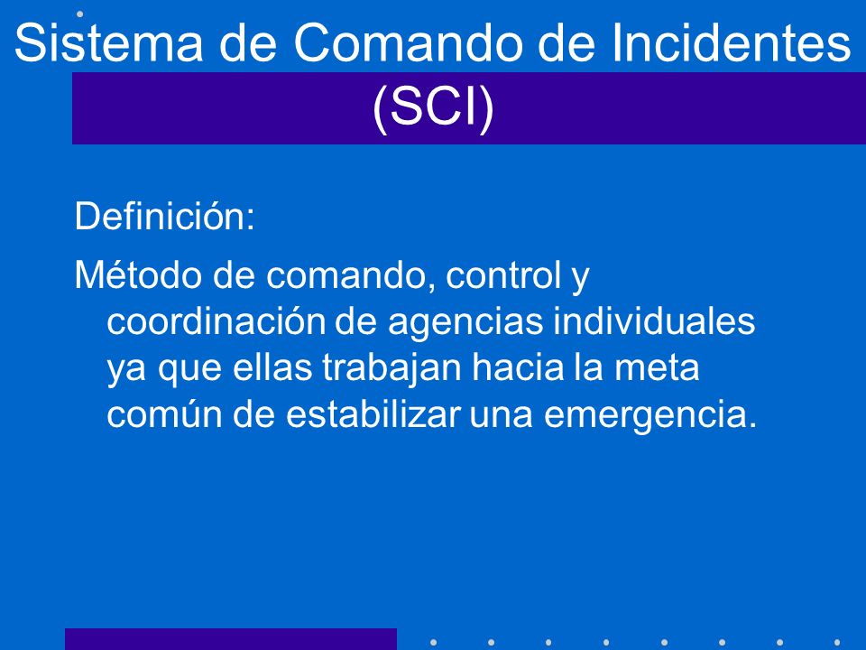 Sistema de Comando de Incidentes (SCI)